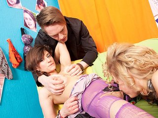 Molten damsels in all girl fuck-a-thon..