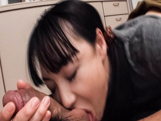 Miho Wakabayashi in the kitchen on her..