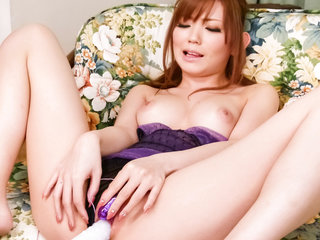 Megu Kamijyou at home with her nail..